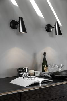 Birdy is a table, wall and floor lamp series designed in in a modernist style. The lamp series was produced and sold by the Norwegian electricity company Sønnico (Oslo) for many years. In 1954 the table lamp, then known as was awarded the Oslo, Metallic Decor, Turbulence Deco, Nordic Style, Interior Paint, Interior Design, Metal Walls, Scandinavian Design, Aluminium