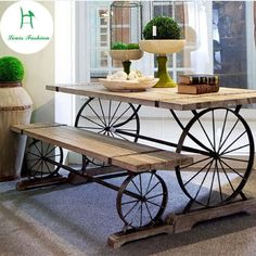 Table and bench idea