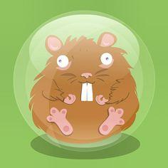 #flydesign #illustration  #hamster #ball  Step 2