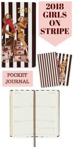 2018 Girls On Stripe Pocket Journal Affiliate