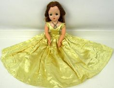 "VINTAGE 1950""S MADAME ALEXANDER ""CISSY"" DOLL AUBURN HAIR TAGGED DRESS #DollswithClothingAccessories"