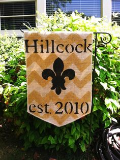 Custom Burlap Garden Flag with Last Name and by ModernRusticGirl, $25.00