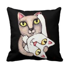 Cat Tango Dance American MoJo Throw Pillow