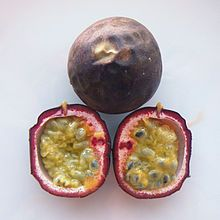 Passion fruit, (TASTED ♥♥♥)  also botanically known as passiflora edulis is a native Brazilian fruit with strong aromatic flavor and amazing nutritional and medicinal properties.
