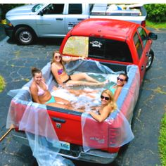 this is definitely on my summer bucket list!! I might use my brothers truck and do this with some friends!