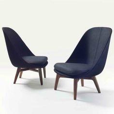 Solo Lounge Chair by Neri & Hu for De La Espada Design Furniture, Sofa Furniture, Sofa Chair, Chair Design, Upholstered Chairs, Contract Furniture, Soft Seating, Contemporary Furniture, Dining Chairs