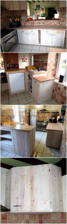 wood pallets kitchen plan