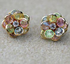 Vintage Avon Flower Petals Earrings 1980's by LynnsBeadsNThings, $12.00