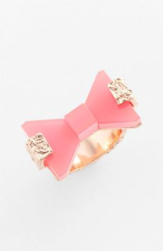 pink bow ring // marc by marc jacobs