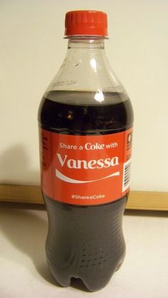SHARE A COKE WITH VANESSA IS MY NAME DRINKING COKE IS MY GAME!!! 20 FL OZ MINT