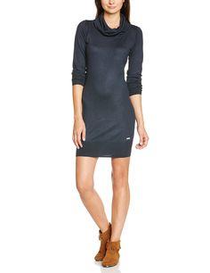Bench BLSA1492 - Vestido de punto para mujer, color azul marino oscuro, talla L