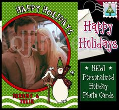 holiday photo card, christmas photo card, custom card, personalized card, happy holidays