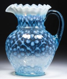 DAISY IN CRISS-CROSS WATER PITCHER : Lot 476