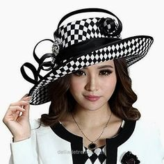 cool June's Young Ladies Satin Dress Hat Church Hat Formal Hat for Women Black H…  http://www.delladetrends.win/2017/07/26/cool-junes-young-ladies-satin-dress-hat-church-hat-formal-hat-for-women-black-h/