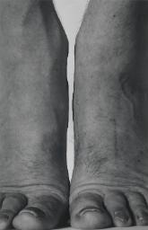 John Coplans 'Self-Portrait (Feet Frontal)', 1984 © The estate of John Coplans