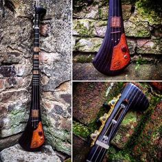 Handcrafted three string electric guitar by DaShtick guitars.