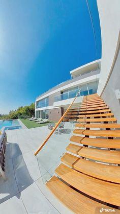 Narrow House Designs, Modern House Design, Modern Exterior, Exterior Design, Model House Plan, Tent Design, Mansion Interior, Luxury Homes Dream Houses, Dream House Exterior