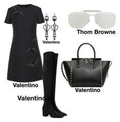 """#fashion #minifashionicon"" by minifashionicon on Polyvore featuring Valentino and Thom Browne"