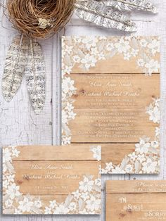 lace wedding invitations by designed with amore left vintage botanical apple…