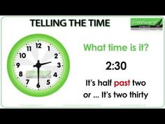 Telling the time in English | Woodward English