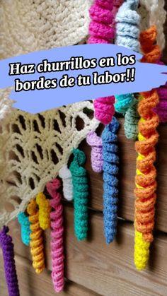 Crochet Cord, Crotchet, Easy Crochet, Free Crochet, Crochet Summer, Crochet Borders, Crochet Stitches, Crochet Patterns, Craft Tutorials