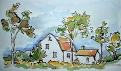 Sketchbook Wandering: More Autumn Country Drives