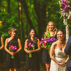 Wedding ceremonies can be funny right @kharwin and @mpallotta77?! Photo by @alexplusbetty at @josiasriverfarm. #mainewedding #weddingofficiant