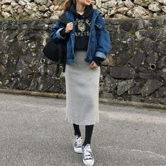 Japanese Style, Look, Tights, Normcore, Street Style, Skirts, Outfits, Dresser, Fashion