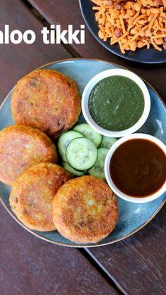 Aloo Recipes, Pakora Recipes, Cutlets Recipes, Veg Recipes, Spicy Recipes, Kitchen Recipes, Cooking Recipes, Cooking Tips, Aloo Tikki Recipe