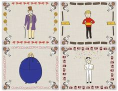 How to make a sticker. Charlie And The Chocolate Factory Stationery And Sticker Set - Step 1