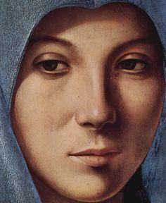 ANTONELLO DA MESSINA (1430 - 1479)   Vergine dell'Annunciazione - Detail