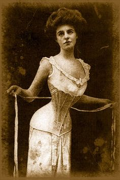 sometimes I think corsets are why it took women so long to catch up in society.   Which is why I consider wearing my sweat pants an act of vengeance :)