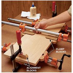 Top notch joinery doesnt mean anything if you dont get a good clamp-up. Try these tips to accomplish just that. - How to make pipe and bar clamp blocks