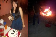 Ana's birthday bash: Friends set helpless dog on fire, pose for photos on Facebook! Demand justice! | YouSignAnimals.org