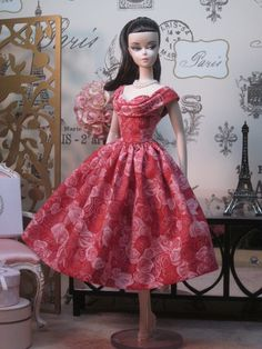 Rockabilly Dress in Rose Bud by Bellissimacouture on Etsy