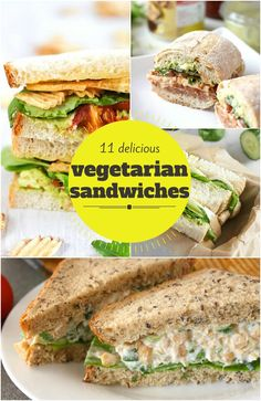A collection of 11 delicious vegetarian sandwiches, ranging from the familiar to the unusual!