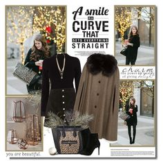 """""""A smile is curve that sets everything straight!!"""" by lilly-2711 ❤ liked on Polyvore featuring Karen Millen, AG Adriano Goldschmied, Zara, Vince Camuto, CÉLINE and Barbara Bui"""