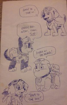 Paw Patrol Chase Sketches By Z Leppelindeviantartcom On