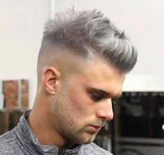 The drop fade haircut is a modern version of the popular classic fade. Just like the name implies, the drop fade haircut is cut low behind the ears, Short Quiff, Short Hair Cuts, Short Hair Styles, Drop Fade Haircut, Quiff Haircut, Popular Mens Hairstyles, Popular Hairstyles, Men's Hairstyles, Hairstyle Ideas