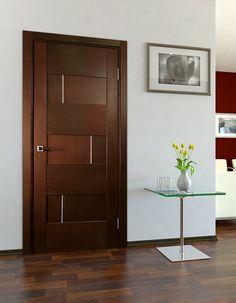 Dominika Interior Door Wenge Finish - Modern Home Luxury Home Door Design, Wooden Main Door Design, Bedroom Door Design, Door Design Interior, Flush Door Design, Modern Wooden Doors, Wood Doors, Black Interior Doors, Interior Modern