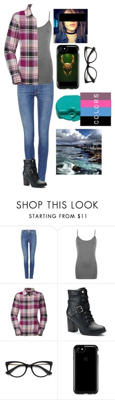 """""""Visiting Monterey Bay!"""" by blissfull-darkness ❤ liked on Polyvore featuring Levi's, WearAll, The North Face, Apt. 9, EyeBuyDirect.com, Speck and Marvel Comics"""