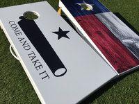 Come And Take It and Texas Flag Cornhole Board Set