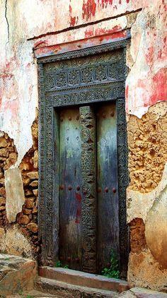 Modern door in Tanzania