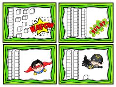 "Do you remember playing the card game ""War"" when you were growing up? This superhero themed card game is played exactly the same way, except cards have numbers in bundles of tens and ones. The second variation is played with ,, and an = sign. This lesson is easy preparation and high engagement-just what every teacher needs for Back to School or to compliment to your Zero the Hero theme for the 100th Day of School! $ *Images of super hero are copyrighted by Pink Cat Studios.*"
