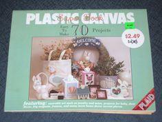 Vintage Plastic Canvas Super Book 70 Projects - Totes Baby Door decor Magnets   #PlasticCanvas