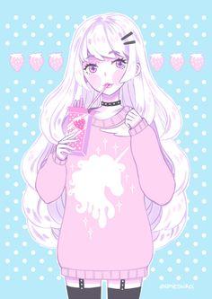 Imagem de anime, kawaii, and pastel                                                                                                                                                                                 Mais