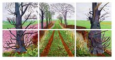 A Closer Winter Tunnel, 2006 oil on 6 canvases Each: 36 x 48 (91.5 x 122 cm) Overall: 75 x 150 in. (190.5 x 381 cm) Collection of Art Gallery New South Wales