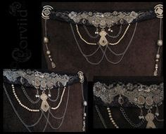 Ornate Silver Bellydance Belt Do this but with sparkly costume jewelry :) Belly Dance Belt, Belly Dancers, Dance Outfits, Dance Dresses, Dance Gear, Tribal Costume, Tribal Belly Dance, Belly Dance Costumes, Tribal Fusion