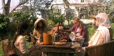 front yard of the Practical Magic house