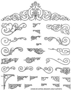 Decorative French Ironwork Designs2 | This is a free downloa… | Flickr